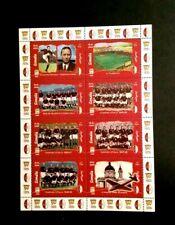 Foglio 8 francobolli Grande Torino calcio Poste Somalia 1999