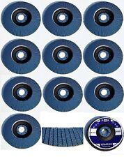 20 INOX Mix Fächerscheiben Ø 125 mm K40-120 Winkelschleifer Schleifmoppteller