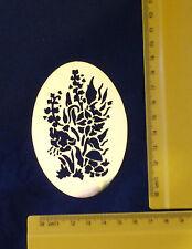 Brass/stencil/Oval/floral/flowers/Blossom/Spring/Summer/Emboss