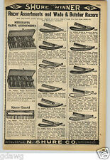1913 PAPER AD Wade & Butcher Straight Razor Special Nothing Better Eagle Safety