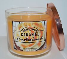 Bath & Body Works 3 Wick Scented Candle | Caramel Pumpkin Swirl (2016)