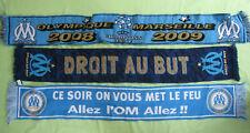 Lot 3 echarpe de supporter Olympique Marseille OM vintage Retro Football