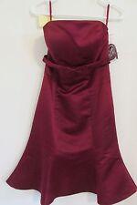 NEW WOMEN'S BELLA FORMALS VENUS TUBE DRESS BURGUNDY RED SIZE 8 PROM~BRIDESMAID