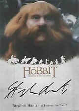 """The Hobbit Battle of the Five Armies - SH Stephen Hunter """"Bombur"""" Autograph Card"""