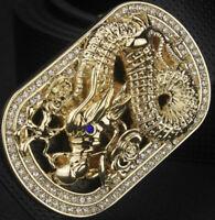 DRAGON DIAMONDS DESIGNER LUXURY PIN BUCKLE ONLY FOR 38 MM BELT BUCKLES UNISEX