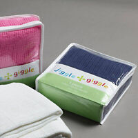 Jiggle & Giggle Navy Cotton Cellular Cot Blanket | for Prams, Bassinets and Car