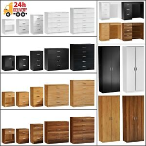 Wardrobes Chest of Drawers Cabinet Bedside Tables Dressing Bedroom Furniture Set