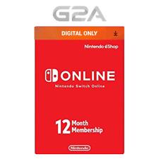 12 Month Nintendo Switch Online Membership Code - 365 Days Digital Key [US]