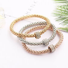 3 Colors Popcorn Set Drill Bangle Women Fashion Bracelet Stainless Steel Jewelry