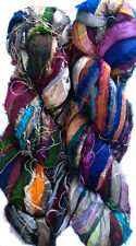 100grm. Himalaya Recycled Soft Sari RiIBBON Silk Yarn Knit Crochet Woven