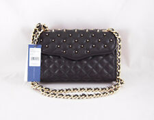 Rebecca Minkoff Mini Quilted Affair with Studs in Black  with Gold Hardware NWT
