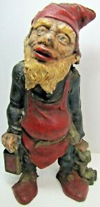 Antique Cast Iron Elf Gnome Doorstop Decorative Art Statue Door Stopper