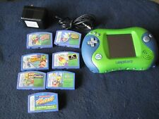 LeapFrog LEAPSTER 2  Green and Blue with SEVEN games and AC / DC Adaptor