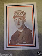 Affiche De Gaulle  Epoque Libération