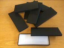 10 Black Canvas Necklace Bracelet Jewellery Gift Box Joblot