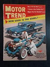 Motor Trend October 1957 - Morris 1000 - Skoda 440 - Maico 500 - Jaguar 3.4