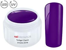 Color UV Gel LED FARBGEL PURPLE SHINE French Modellage NailArt Design Nagel Lila