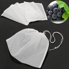 5Pcs Kordelzug Nylon Mesh Filterbeutel Weiß 21.3 x 16.5cm Netzbeutel Netzsack