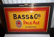 BASS & CO PALE ALE IN BOTTLES :EMBOSSED(3D) METAL ADVERTISING SIGN 30X20cm