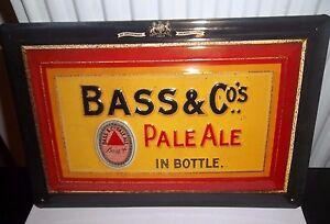 BASS & CO PALE ALE IN BOTTLES :EMBOSSED(3D) METAL ADVERTISING SIGN 30x20cm Beer