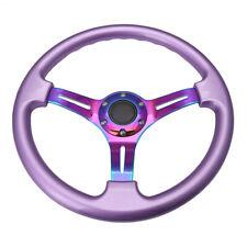 350mm 14inch Car Deep Dish Classic ABS Plastic Steering Wheel Wood Chrome Spoke