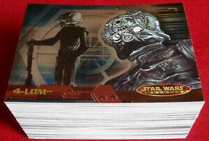 STAR WARS EVOLUTION - COMPLETE BASE SET (90 cards) - Topps 2001