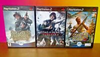 Medal of Honor Rising Sun Vanguard Frontline  - PS2 PlayStation 2 - 3 Game Lot
