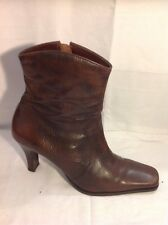 Lilley&Skinner Brown Ankle Leather Boots Size 7