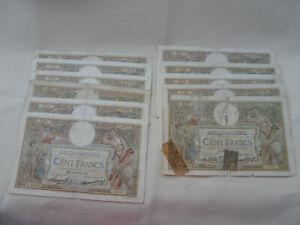 Lot 11 Billets 100 Francs LOM Luc Olivier Merson