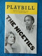 The Niceties - NY City Center Stage II Theatre Playbill - November 2018 - Banes