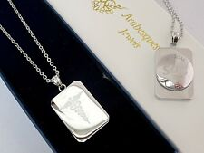 GENUINE ARABESQUES MENS CHUNKY STAINLESS STEEL SOS NECKLACE/PENDANT TALISMAN