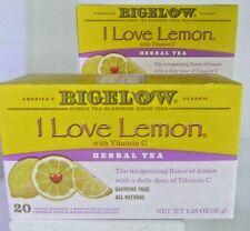 Lot Of 2 Bigelow I Love Lemon Herbal Tea America's Classic