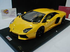 "MR Collection Models LAMBO06B - Lamborghini Aventador LP700-4 "" gelbmet. "" 1:18"