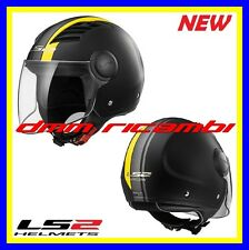 New 2017 Casco Jet con visiera LS2 AIRFLOW L OF562 METROPOLIS Nero Giallo Tg.XL