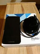 MOTOROLA  MOTO X STYLE   32GB  BLACK  WITH CHARGER AND BOX  EU EDITION