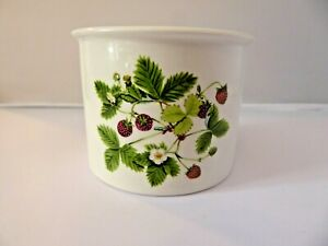 Portmeirion Small Size Plant/Jam Pot Summer Strawberries by Angharad Menna 1980