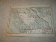Vintage 1901 British Columbia Map Rand McNally Business Atlas Single Page