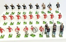 Lot of 30 toy soldiers, 54mm lead, Britains Marines Band, Vintage
