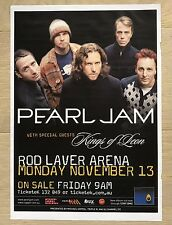 Pearl Jam & Kings Of Leon Australian Tour Ad Poster Melbourne 2006 Eddie Vedder