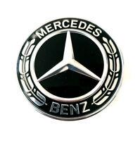 ✅ Original Mercedes Emblème Avant Centre Laurier Noir Classe A W176 Sl R231