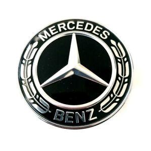 Original Mercedes Emblem vorn Lorbeerkranz schwarz CLS W218 C218 W257 C257 NEU