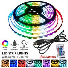 Led Strip Lights With Remote RGB Colour Changing Under Cabinet Kitchen Lightning