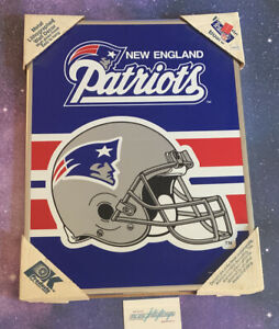 """Vtg 90's New England Patriots METAL LITHOGRAPHED Decor 14.5"""" × 19.5"""" PK Products"""