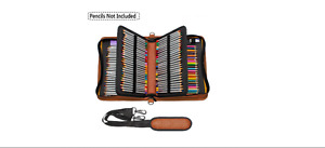 NEW 160 Slot PU Leather Wrap Case For Colored Pencil Comestic Stationery F880