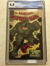 The Amazing Spider-Man #41 1ST RHINO CGC 4.0