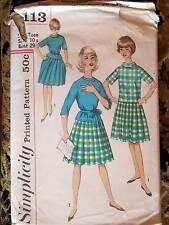 4113 Simplicity Vintage Sewing Pattern SUB-TEEN TOPS SHIRT sz TEEN 10 s bust 29