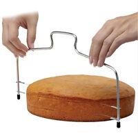 Gâteau fil éminceur Leveler pâte à pizza Cutter Trimmer Outil inoxydableOP