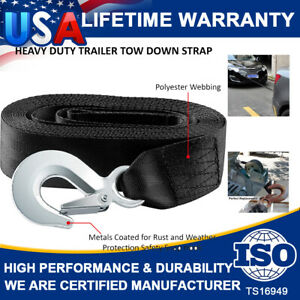 """2"""" x20' Heavy Duty Boat Trailer Replacement Tow Winch Strap With Snap Hook Quick"""