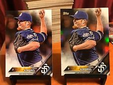 2016 Topps CRAIG KIMBREL Rainbow Foil Parallel + Base Card! (2 Cards) Padres