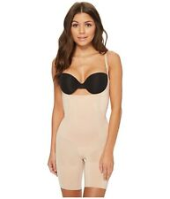 Spanx OnCore Open Bust Mid Thigh Bodysuit XL Soft Nude new with tags